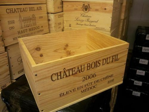 6 pack GENUINE FRENCH WOODEN WINE CRATES BOXES  PLANTER HAMPER DRAWERS STORAGE