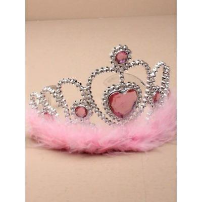 Realistico Silver Heart Ragazze Tiara Rosa Pelliccia Corona Feste Di Compleanno Costume-mostra Il Titolo Originale