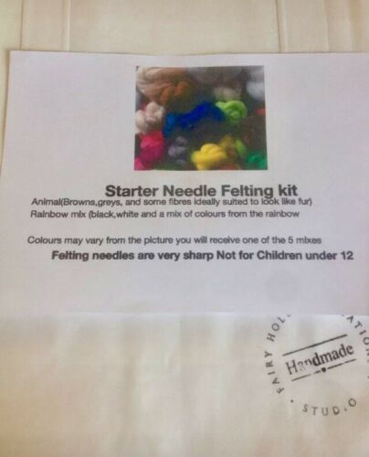 Needle Felting Starter Kit Needles Ideal For Beginners Assorted Wools