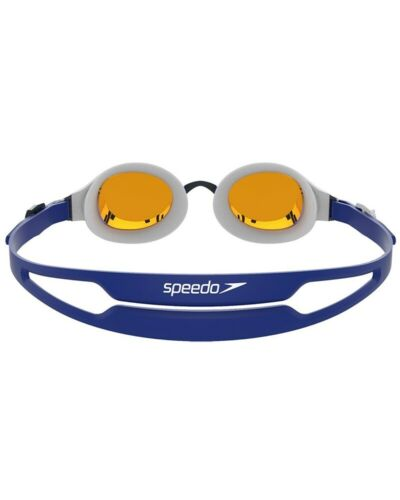 Details about  /Speedo Hydropure Mirror Glasses Swimming Pool Blue//White//Gold