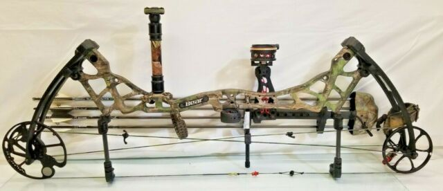 New 2016 Bear Archery Escape 55-70# RH Compound Bow Package Realtree Xtra Green
