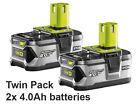 Ryobi 18v Battery 4.0ah One Plus Lithium 18 Volt Rb18l40