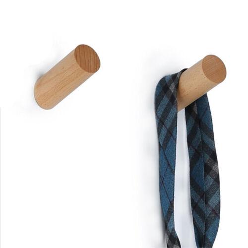 Wall-Mounted Rack Coat Hook Rack Towel Wooden Hanger Holder Hook SJ