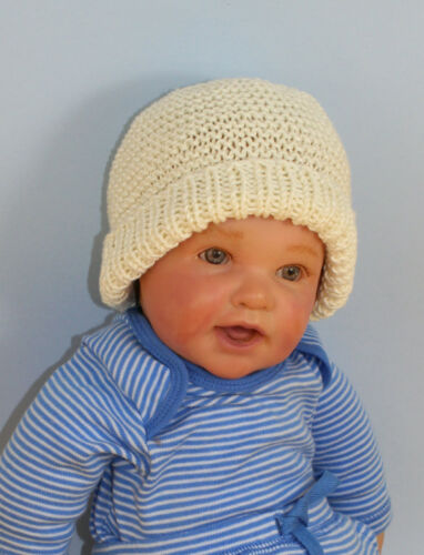 PRINTED INSTRUCTION-BABY GARTER STITCH BEANIE /& BOOTIES KNITTING PATTERN