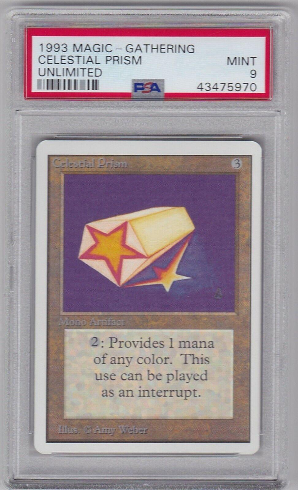CELESTIAL PRISM card UNLIMITED set set set PSA 9 Grade MINT Magic