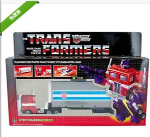 Hasbro carved G1 optimus prime + color metal transformers toy box for cars