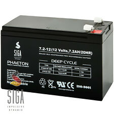 Akku 7,2Ah 12V Blei Gel Batterie 7Ah 7,2Ah 7,5Ah 7A 12 Volt extrem ZYKLENFEST