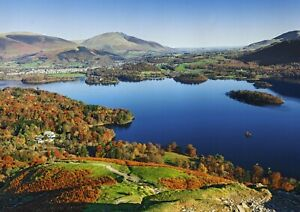 A1-Art-Poster-Of-Derwentwater-Cumbria-60-x-90cm-180gsm-England-Lake-Gift-14251