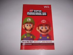 New-Super-Mario-Bros-Wii-Instruction-Book-Booklet-Manual-for-Nintendo-Wii