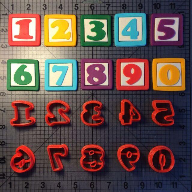 Alphabet Blocks Font Number Cookie Cutter Set