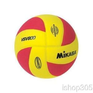 MIKASA-VSV800-Squish-Pillow-Soft-Indoor-Outdoor-Volleyball-Yellow-Red-Size-5