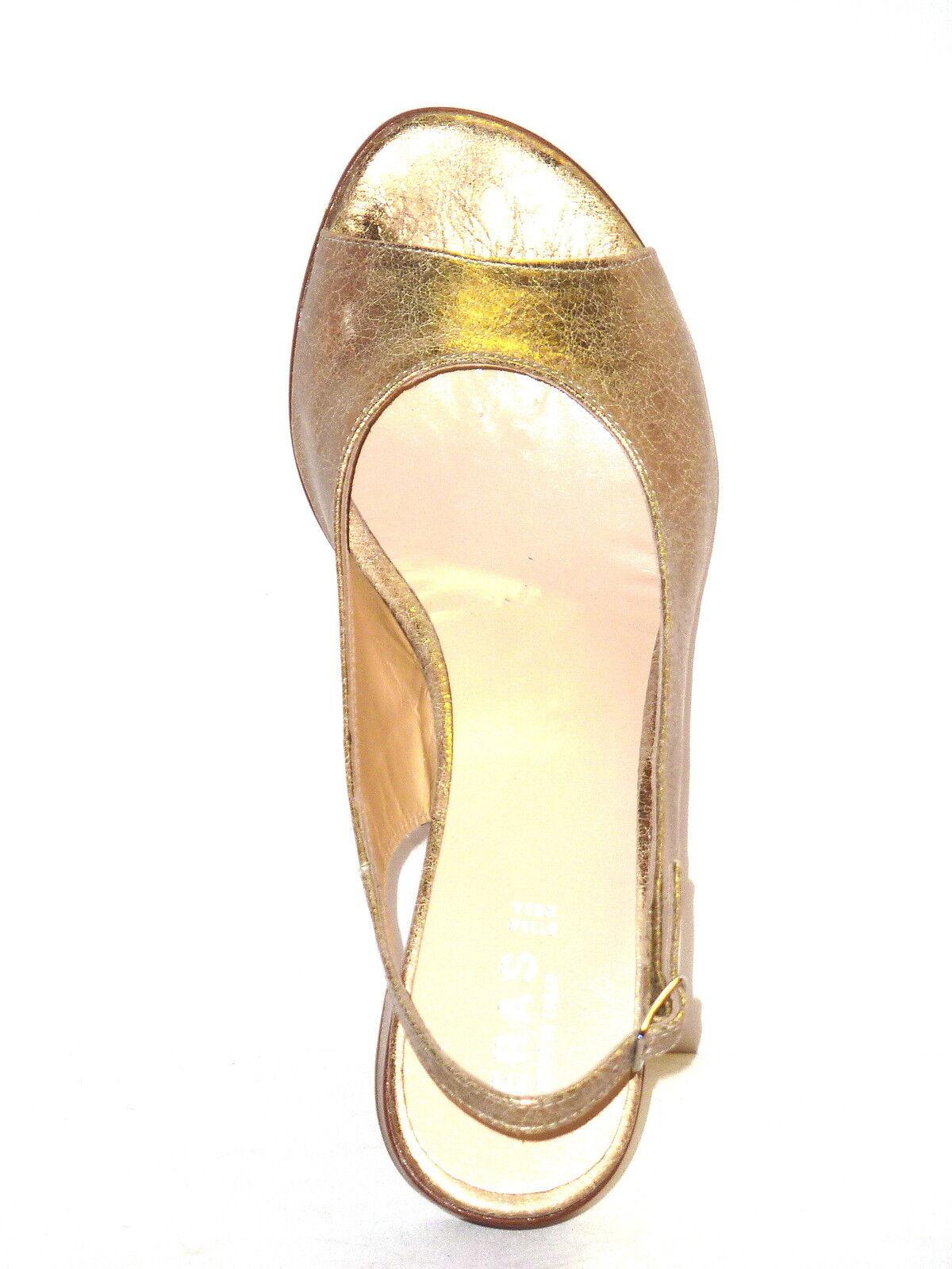 separation shoes 332c0 638d7 756 SANDALIAS DE MUJER TRENDY MODE CÓMODA TACONES BAJO ORO MARTILLADO n. 36  f8c4d6 - higrotemper.es