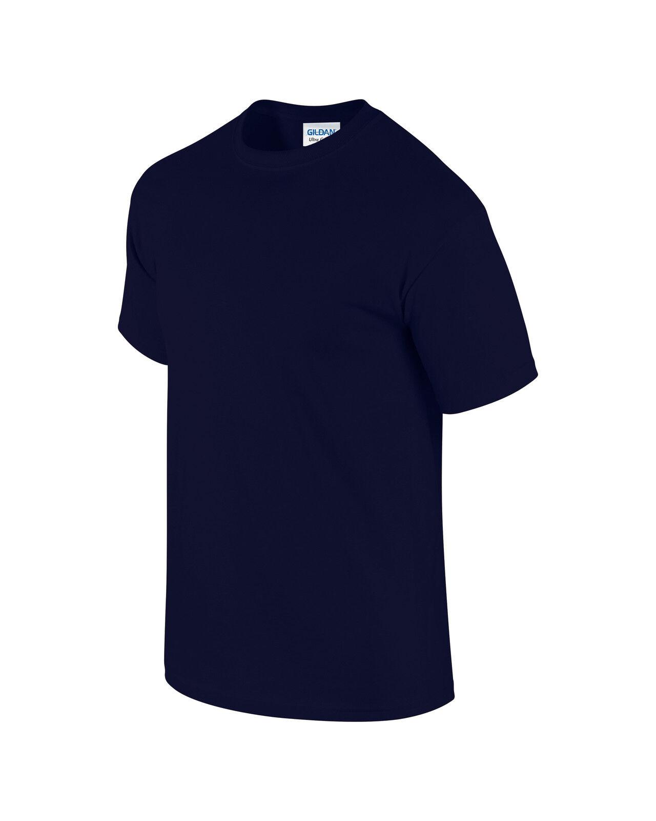 IMPORTED NAVY blueE PLAIN 100% COTTON T SHIRT XXXXXL 5XL GD02