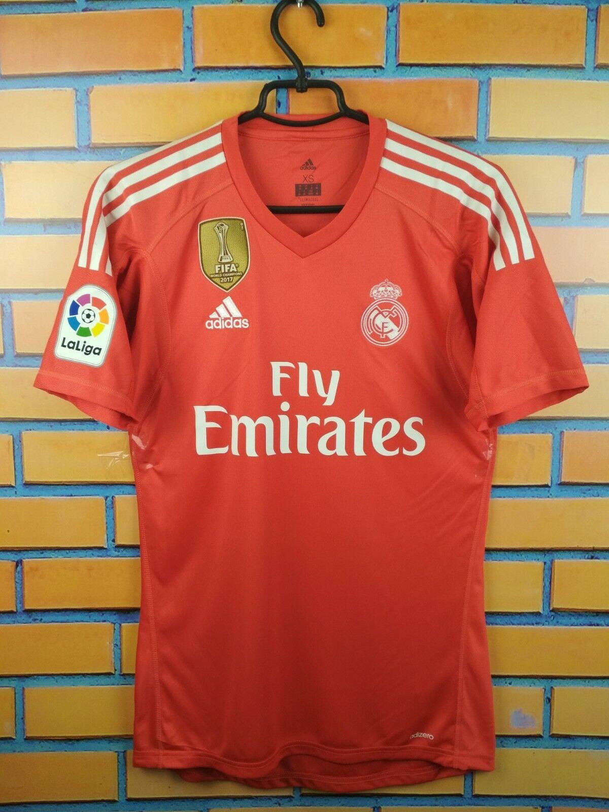 Real Madrid Adizero Goalkeeper Jersey XS 2018 Shirt B31084 adidas ...