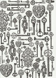 Rice Paper for Decoupage Scrapbook Craft Sheet Black Gears