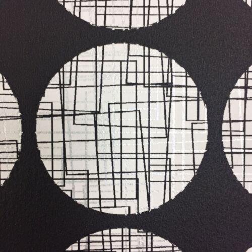 Circle Wallpaper Maze Effect Matrix Lines Metallic Modern Rasch Bulk 3 Rolls