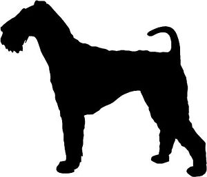 airedale terrier dog silhouette sticker decal graphic vinyl label