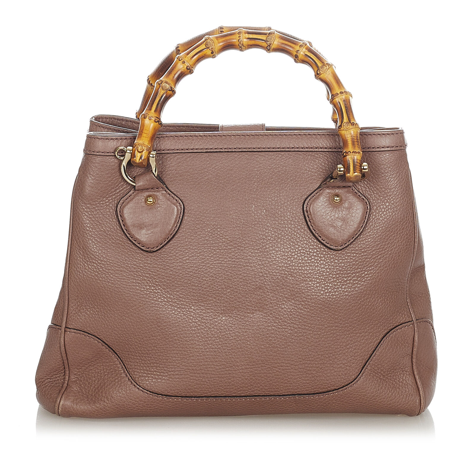 Pre-Loved Gucci Brown Calf Leather Bamboo Diana H… - image 3