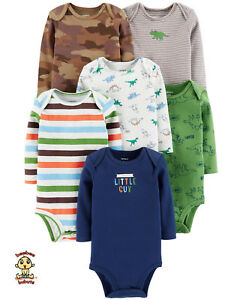 Carter-039-s-Bodysuits-6-Pack-Long-Sleeve-Set-3-months-Size-Authentic-and-Brand-New