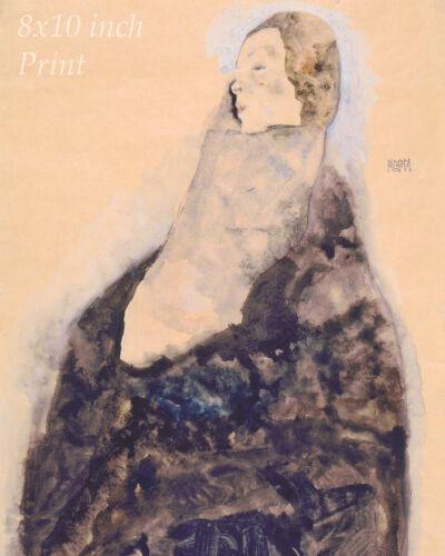 Sleeping by Egon Schiele Woman Slumber Asleep Schlafende  8x10 Print 2467