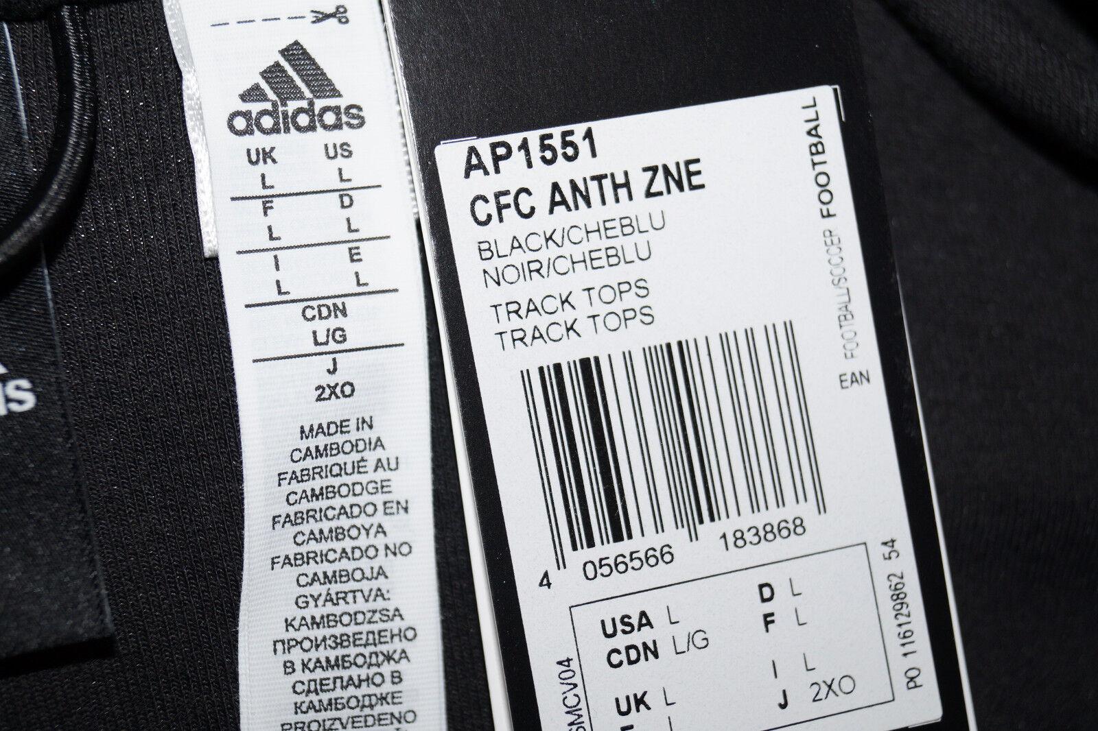 Adidas Chelsea Chelsea Chelsea CFC ANTH ZNE  Hooded Trainings-Sport- Jacke Kapuze Gr.L AP1551 1ff20e