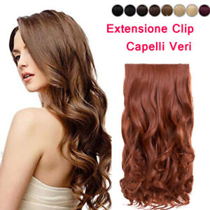 EXTENSION-CLIP-FASCE-CAPELLI-MOSSI-VERI-indiano-REMY-A-70-GRAMMI-REMY-HAIR-40-cm