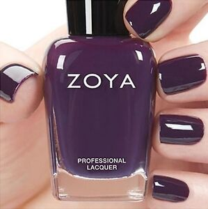 Image Is Loading Zoya Zp803 Lidia Eggplant Purple Cream Nail Polish