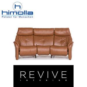 Himolla-Leder-Sofa-Cognac-Braun-Dreisitzer-Funktion-Relaxfunktion-Couch-12416