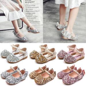 Mädchen Damen Pailletten Ballerina Schuhe