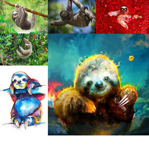 Sloth-Full-Drill-DIY-5D-Diamond-Embroidery-Painting-Cross-Stitch-Mural-Kit-Decor