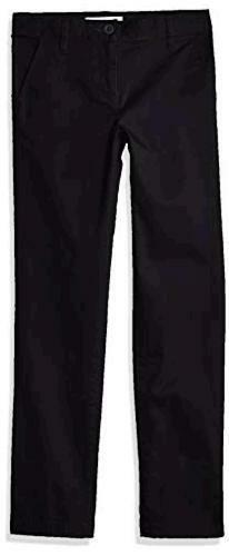 Black Size Little Kid 12.0 Essentials Girl/'s Slim Uniform Chino Pants,