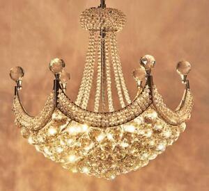 Crystal Ceiling Light Pendant Lamp Chandelier LED Living Room Lighting Fixtures