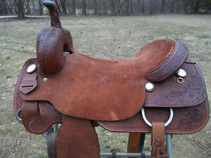 Cutting saddle/ Handmade Chet Koen 17 1/2 In. Hard Seat