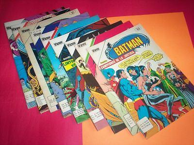 LOT BATMAN 9  EDIC. CINCO COLOMBIA 1981 TYP. NOVARO DC