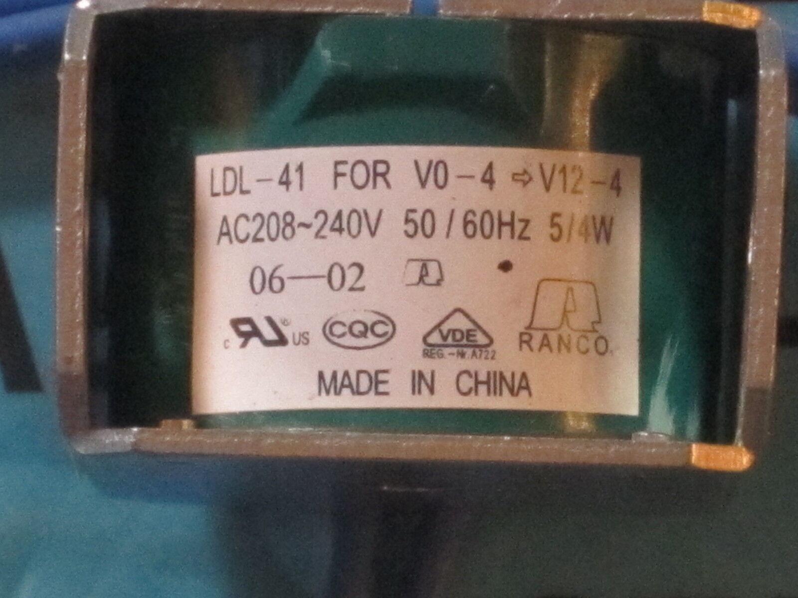 Ranco Ldl 41 Solenoid Coil For 240v V0 4 V12 Ebay Controller And Valve Set Up Norton Secured Powered By Verisign