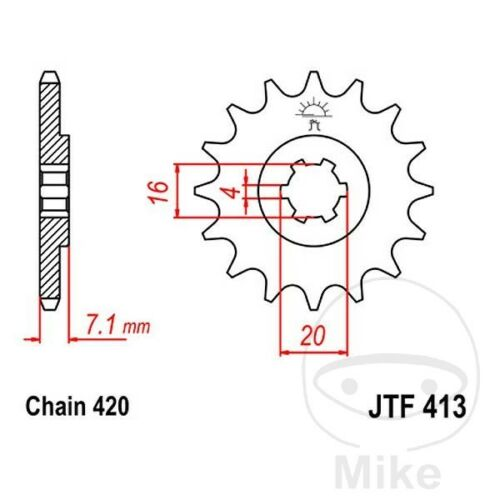 JT Front Sprocket 11T 420 Pitch JTF413.11 (JTF413.11)