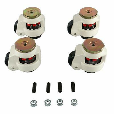 GD-80S Set of 4 Leveling Casters for Precise Instruments Flexible Caster New!