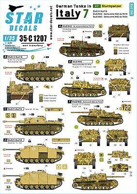 Sturmpanzer 35c1207 Star Decals 1//35 German tanks in Italy # 7