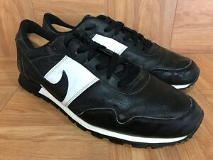Vintage? Nike Twenty Racers Running Black White Leather Shoe Sz 10.5 Pegasus 20