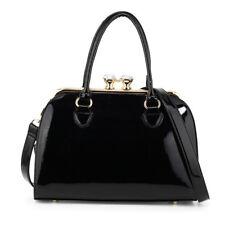 item 1 Ladies Patent Designer Handbags Women s Faux Leather Satchel Style  Shoulder Bags -Ladies Patent Designer Handbags Women s Faux Leather Satchel  Style ... 006ba9f2891f0