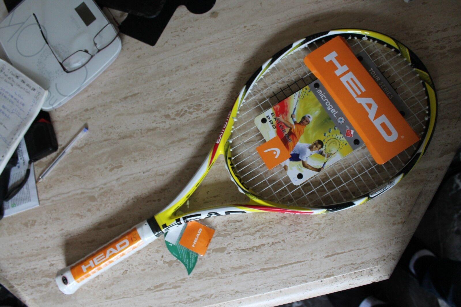A RAQUETTE de tennis HEAD MICROGEL EXTREME PRO MID PLUS 4 3 8 GRIP 3 315gr (15 )