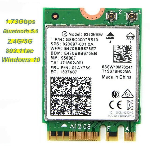 2230 Intel® 7265NGW Dual Band Wireless Card for M.2 802.11ac BT4.2 2x2