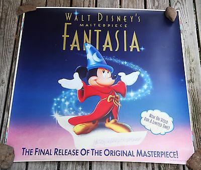 Rare Walt Disney S Fantasia Original Video Store Light Box Display Movie Poster Ebay