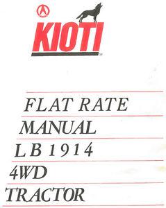 s l300 kioti lb1914 flat rate tractor manual ebay