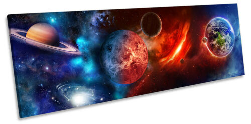 Planètes Astronomie Espace Imprimé Panorama TOILE murale ART Photo Multicolore