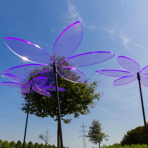 3 Stück SUNPLAY Sonnenfänger Ø20cm Suncatcher Gartenstecker Lilien Lila