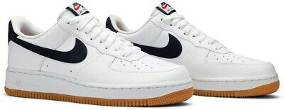 patrulla Huérfano espacio  Nike Air Force 1 Low '07 White Obsidian CI0057 100 Men's Size 16 | eBay