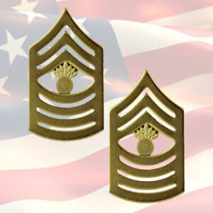U-S-M-C-MASTER-GUNNERY-SERGEANT-CHEVRONS-PAIR-22K-GOLD-PLATED-OR-9