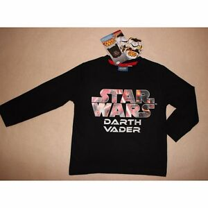 DISNEY t-shirt STAR WARS 2-3 ou 4-5 ans manches longues noir NEUF   eBay 296cfae9b9a7