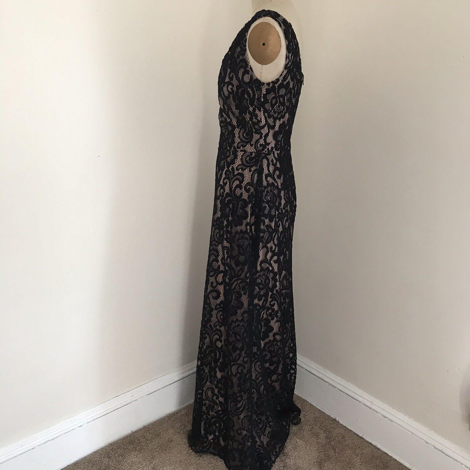 Dessy Collection Gown Black Lace One Shoulder Dre… - image 3